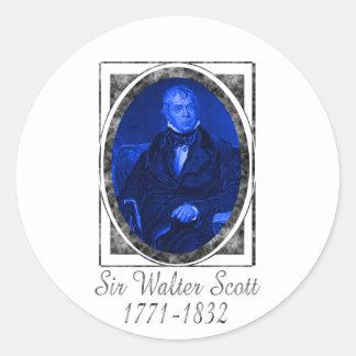 Sir Walter Scott Pegatina Redonda