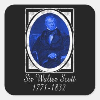 Sir Walter Scott Calcomanía Cuadradas Personalizada