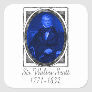 Sir Walter Scott Calcomanía Cuadrada