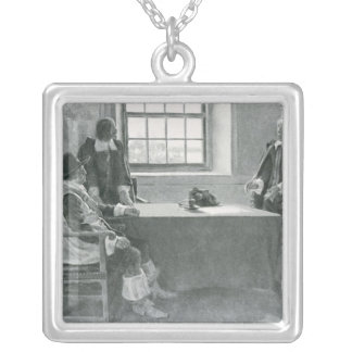 Sir William Berkeley Surrendering Silver Plated Necklace