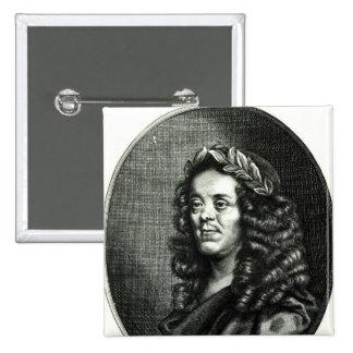 Sir William Davenant 2 Inch Square Button