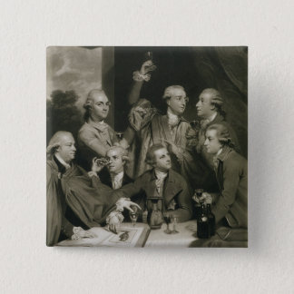 Sir William Hamilton (1730-1803) with other Connoi Pinback Button