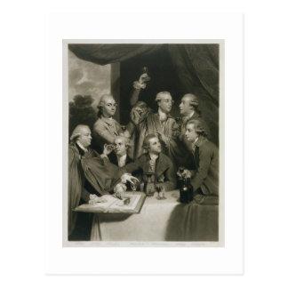 Sir William Hamilton (1730-1803) with other Connoi Postcard