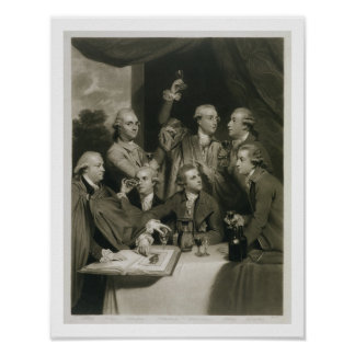 Sir William Hamilton (1730-1803) with other Connoi Poster