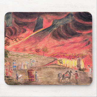Sir William Hamilton  Studying the Eruption Mouse Pad
