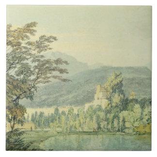 Sir William Hamilton's Villa, c.1795 (w/c over pen Large Square Tile