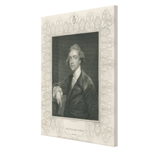 Sir William Jones from 'Gallery of Portraits' Canvas Prints
