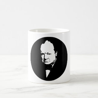 Sir Winston Churchill -- Black and White Mug