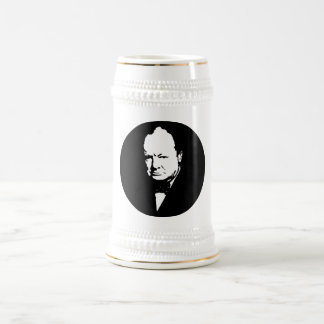 Sir Winston Churchill -- Black and White Mugs