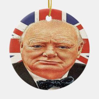 Sir Winston Churchill Ceramic Ornament