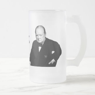 Sir Winston Churchill Jarra De Cerveza Esmerilada