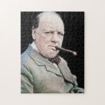 """Sir Winston Churchill Jigsaw Puzzle<br><div class=""""desc"""">Sir Winston Leonard Spencer-Churchill, KG, OM, CH, TD, PC, DL, FRS, RA (30 November 1874 – 24 January 1965) was a British statesman who was the Prime Minister of the United Kingdom from 1940 to 1945 and again from 1951 to 1955. Churchill was also an officer in the British Army,...</div>"""