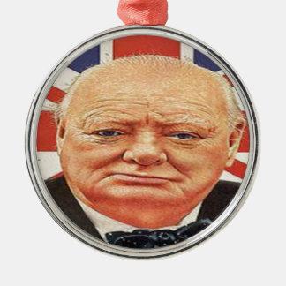 Sir Winston Churchill Metal Ornament