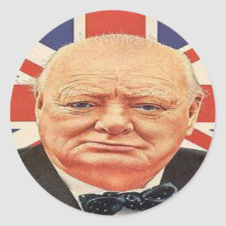 Sir Winston Churchill Etiqueta Redonda