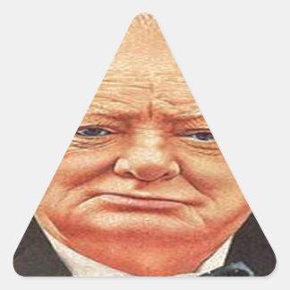 Sir Winston Churchill Pegatinas De Triangulo Personalizadas