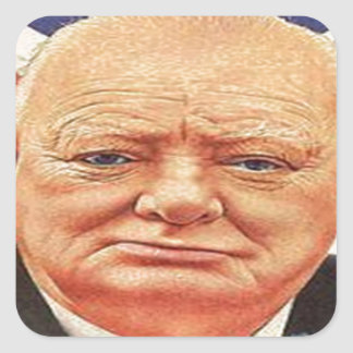 Sir Winston Churchill Calcomanía Cuadrada