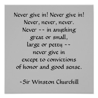 Sir Winston Churchill Quotation by SRF Poster