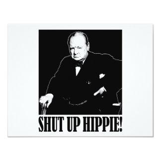 Sir Winston Churchill says Shut Up Hippie! Card