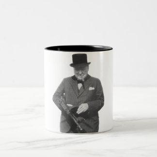 Sir Winston Churchill Two-Tone Coffee Mug
