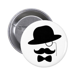 Sir with Moustache Pinback Button