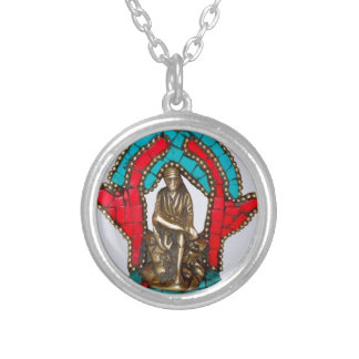 SIRDI SAI BABA - Saibaba Round Pendant Necklace
