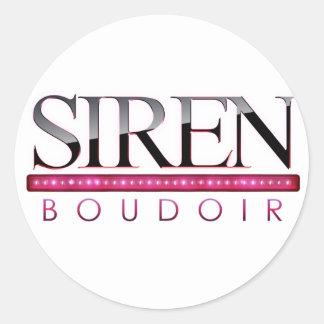 Siren Boudoir ~ Photography by Melanie Ramiro Classic Round Sticker