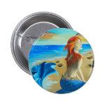 Siren - mermaid pinback button