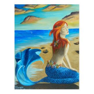 Siren - mermaid postcard