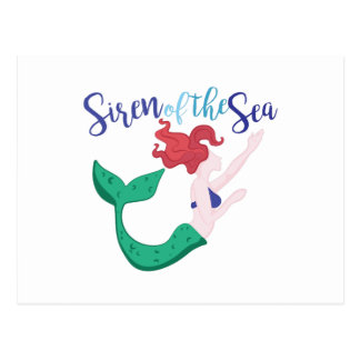 Siren Of Sea Postcard