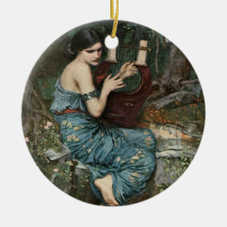Siren Playing Music for Sailors Ceramic Ornament