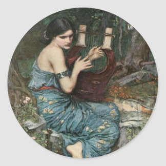 Siren Playing Music for Sailors Classic Round Sticker