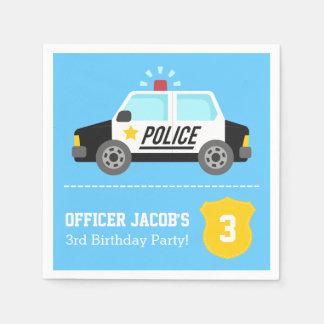 Siren Police Car Kids Birthday Party Disposable Napkins