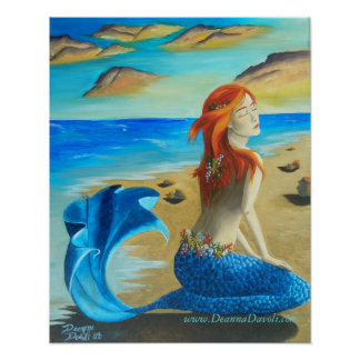 Siren Poster Mermaid Art Mermaid Poster Siren Art