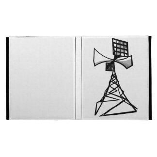 Siren radio tower iPad folio case