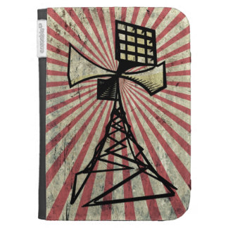 Siren radio tower case for kindle