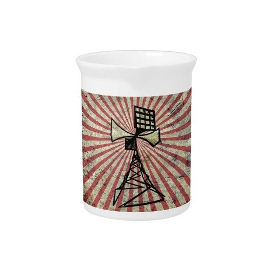 Siren radio tower drink pitchers