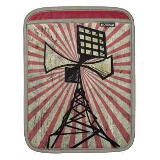 Siren radio tower iPad sleeve