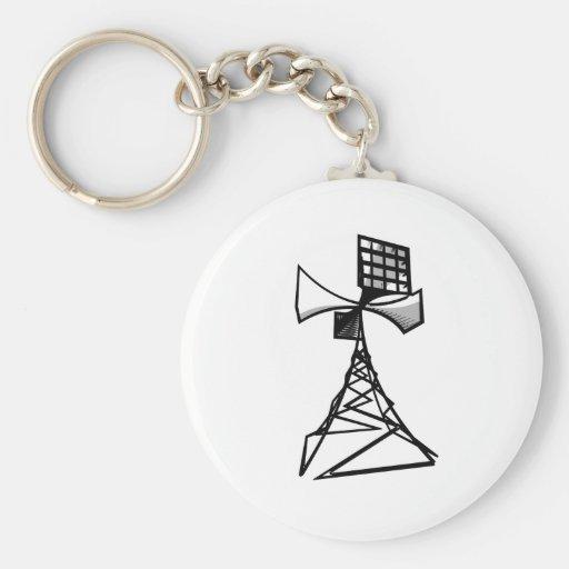 Siren radio tower keychains