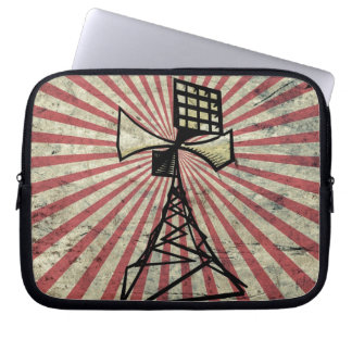 Siren radio tower computer sleeve