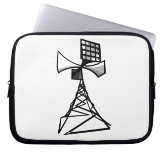 Siren radio tower laptop computer sleeve