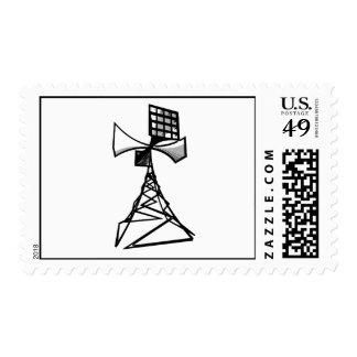 Siren radio tower stamp