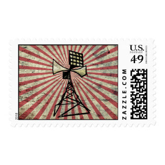 Siren radio tower postage