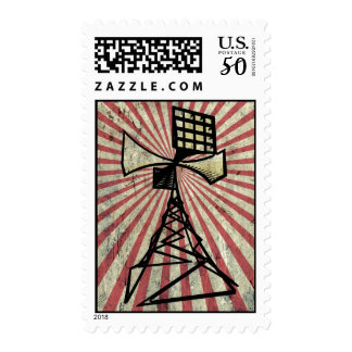 Siren radio tower postage