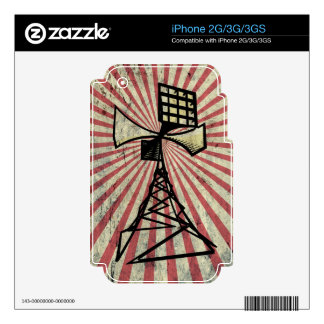Siren radio tower iPhone 3G decal