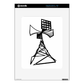 Siren radio tower decal for the iPad