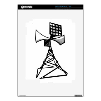 Siren radio tower iPad 2 skin