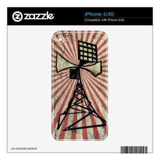 Siren radio tower decal for the iPhone 4