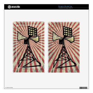 Siren radio tower decals for kindle fire