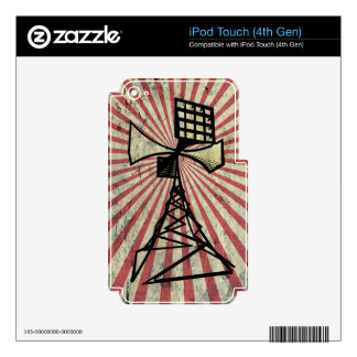 Siren radio tower iPod touch 4G decal