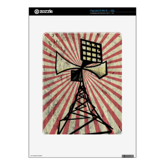 Siren radio tower iPad decals